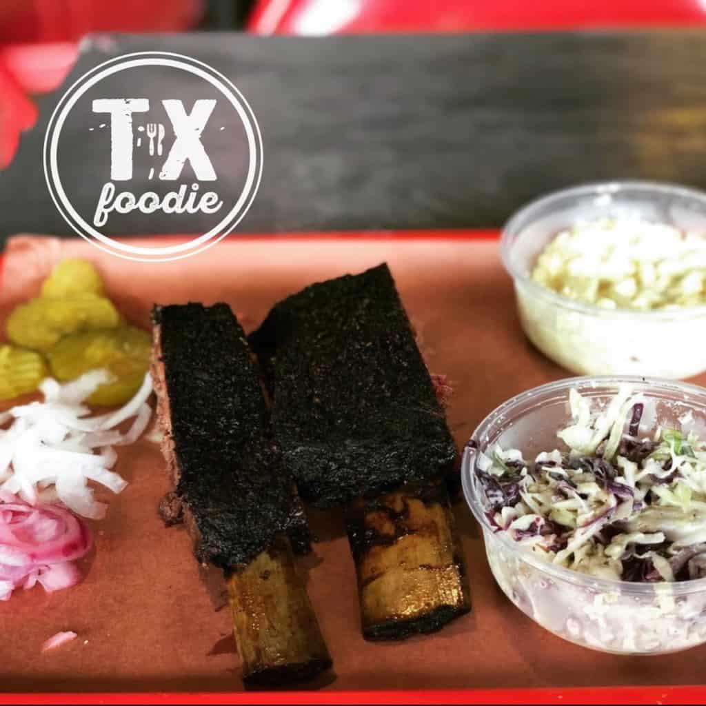 Texas BBQ Beef Ribs, Cole Slaw & Potato Salad
