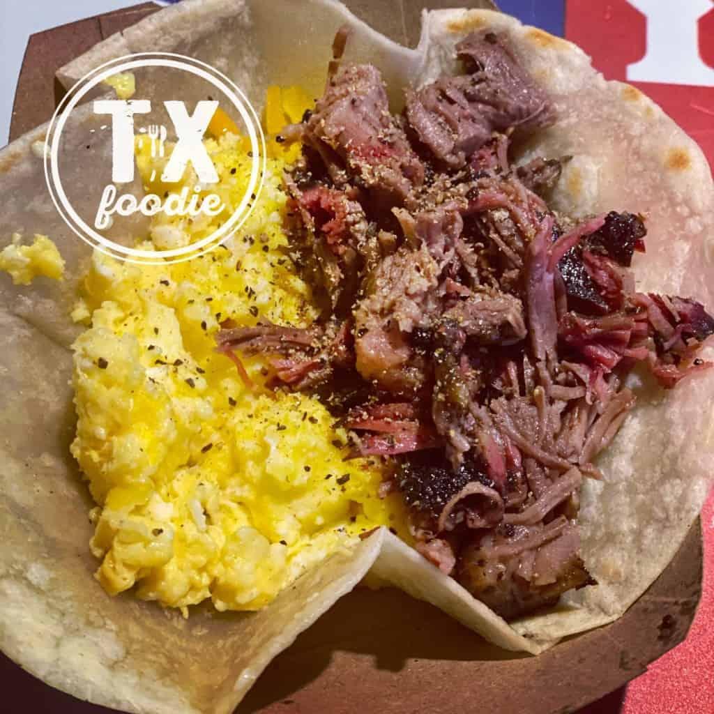 BBQ Brisket & Egg Taco